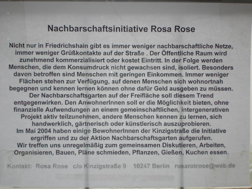 Rose Rose 2005 Schild